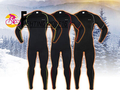 Winter Compression Jersey & Tights Quick-dry Base Layers Running Clothes Suits