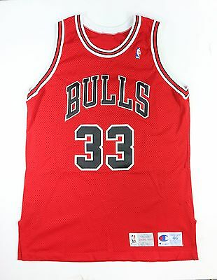 Scottie Pippen 1993 Game Issued Chicago Bulls Champion Pro Model Jersey 46 +3