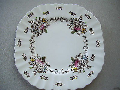 """Vintage Stafforshire Chatsworth J & G Meakin 7.5"""" Square Bread & Butter Plate"""