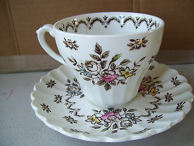 Vintage Stafforshire Chatsworth J & G Meakin Cup & Saucer Classic White Set