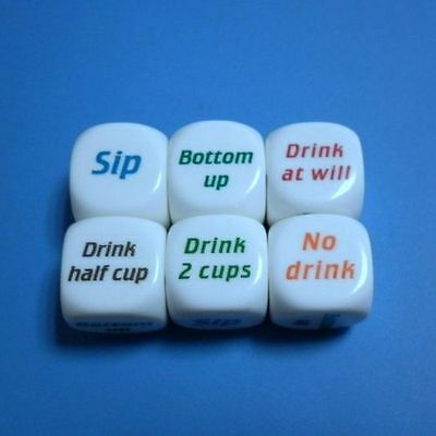 New Drink Decider Die Games Bar Party Pub Dice Fun Funny Toy Drinking Game CA