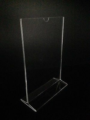 Acrylic Perspex A5 Portrait Menu Holder Sign Holder Quality Design Lot of 6