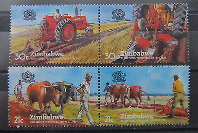 A2135 Zimbabwe 1983 Mechanred Plowing Mnh**