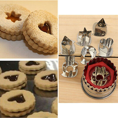 Mix Shaped Biscuit Sugarcraft Foondant Cake Cutter Mould Mold Baking Tools