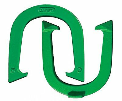 """Light Weight """"Cadet"""" Pitching Horseshoes - Green Finish – NHPA Sanctioned for -"""