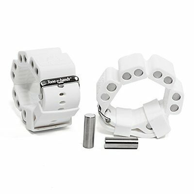 Tone-y-Bands cardio wrist weights for arm toning, White, Small