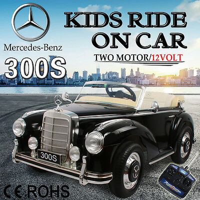 Kids Electric Ride on Car Licensed Mercedes Benz 300S Children Remote 12V Black