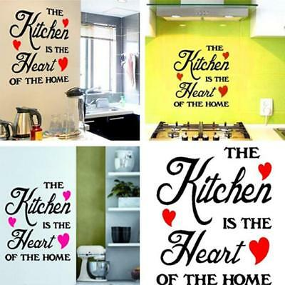"""DIY """"The Kitchen is the Heart of the Home"""" Wall Art Sticker Decal Kitchen Decor"""