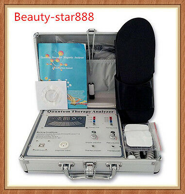 Spanish&English Quantum Health Body Analyzer Magnetic Resonance Massage Therapy