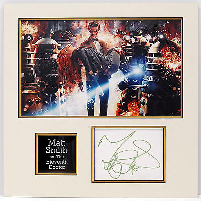 Matt Smith Genuine Hand Signed Photo Mount Display DR WHO Autograph (A)