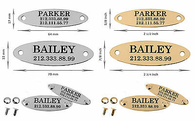 Oval Nameplate Personalized Custom Engraved Door Desk Sign Dog Collar Name