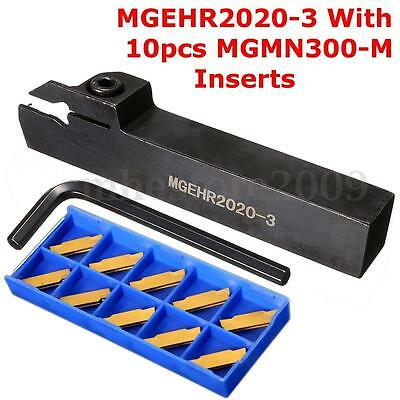 MGEHR2020-3 Right Hand Groove Cutter Lathe Toolholder + 10pcs MGMN300-M Insert