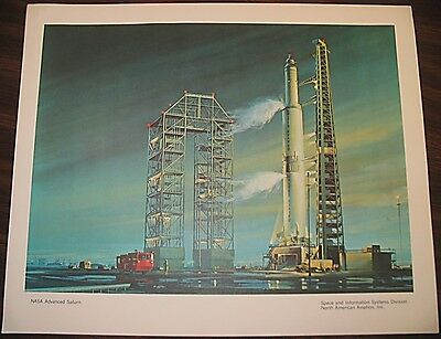 Vintage Printed NASA Advanced Saturn Space & Information North American Aviation