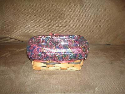 Longaberger 1994 Father's Day Business Card Basket Set - Father's Day Paisley