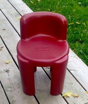 """Little Tikes Chunky Burgundy/Red Child Size Chair Pretend Play Bright N Bold 15"""""""