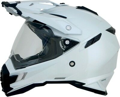AFX FX-41DS Solid Helmet Pearl White 0110-3753