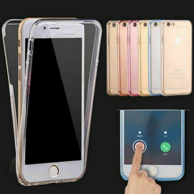 Front and Back Soft Clear Transparent TPU Gel Case For iPhone 7, 8, 8 Plus, X, S
