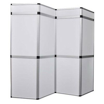 Exhibition 8 Panel Folding Display Boards Lightweight Trade Show Stand White