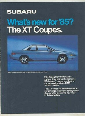 1985 Subaru XT Coupe Brochure my6472