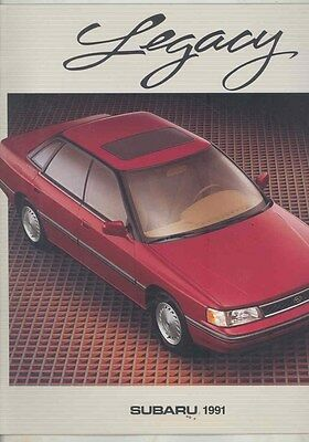 1991 Subaru Legacy Large Brochure my6502