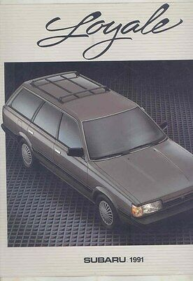1991 Subaru Loyale Large Brochure my6503