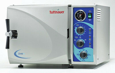 "Tuttnauer 2340M Manual Autoclave Sterilizer Medical Dental Health 9"" Chamber FDA"