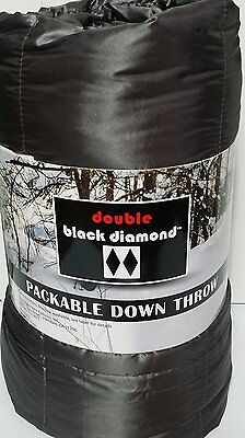 """BRAND NEW  60""""x 70"""" DOUBLE BLACK DIAMOND PACKABLE DOWN THROW (700 FILL)"""