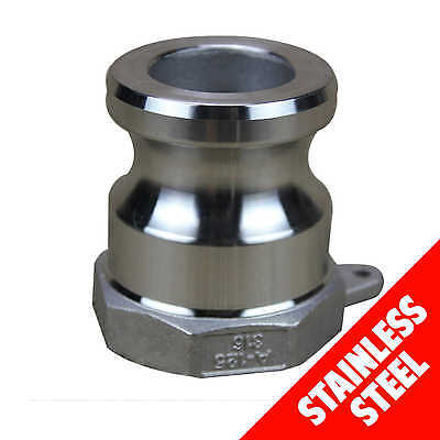 "Camlock STAINLESS STEEL 316 25mm (1"") Type A Male Adaptor x Fem BSP Cam Lock"