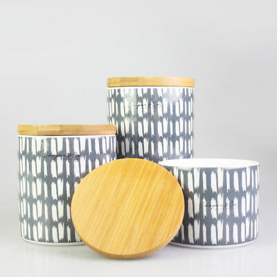Clarkedale Canister with Strip Pattern Kitchenware Food Storage Organizer Home