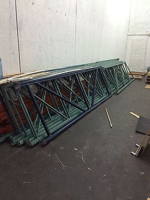 Industrial Pallet Rack Upright Frames 42x144 Interlake Racks Teardrop Racking