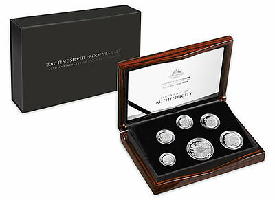 2016 FINE SILVER PROOF YEAR SET - 50th Anniversary of Decimal Currency in Aust.M