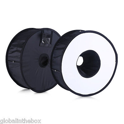 """Universal 46cm/18"""" Round Magnetic Ring Flash Diffuser Softbox For Photography UK"""