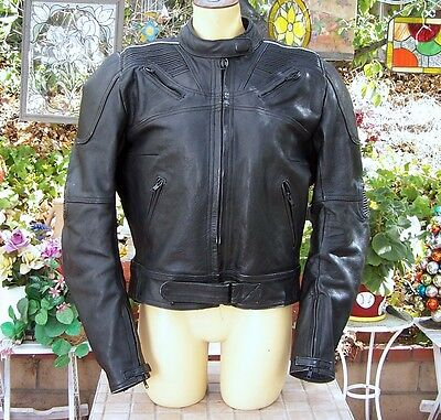 Women Frank Thomas Thick Leather Motorcycle Racing Jacket W/Padding, Liner NICE