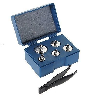 Silver Jewelry Calibration Weight for Digital Pocket Scale - 5pcs, Total 100g
