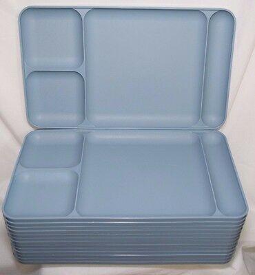 14 Tupperware Divided Food Trays Kids Lunch Camping Picnic Serving Blue Daycare