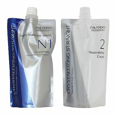 Straight Hair Perm chemicals Cream Shiseido Crystallizing Fine Tinted N1+2 400g