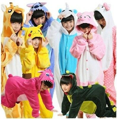 NEW! Top Children Kids Boys Girls Pajamas Unisex Cosplay Animal Onesie Sleepwear