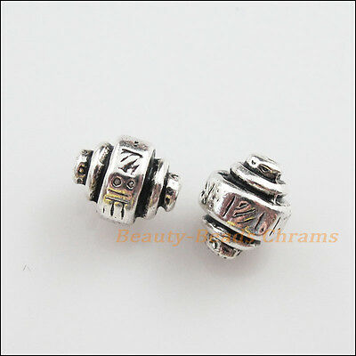 10Pcs Tibetan Silver Tone Gyroscope Spacer Beads Charms 8.5mm