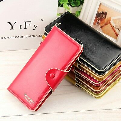 Fashion Women Lady PU Leather Clutch Wallet Long Card Holder Purse Handbag US