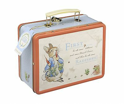 New PETER RABBIT LUNCH BOX Tote Tin Elite School Packed Lunch