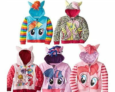 New Girls My Little Pony Hoodie Wings 2,3,4,5,6,7,8 YEARS Twilight Rainbow Dash