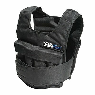 RUNmax 12lb-140lb Weighted Vest with Shoulder Pads, 40lb