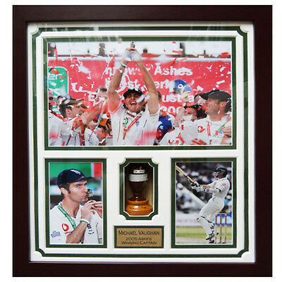 Michael Vaughan Framed Signed Replica Ashes Urn