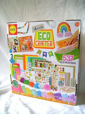 New Ultimate Eco Crafter Craft Set Make Your Own Paper Scrapbook Ribbon Alex