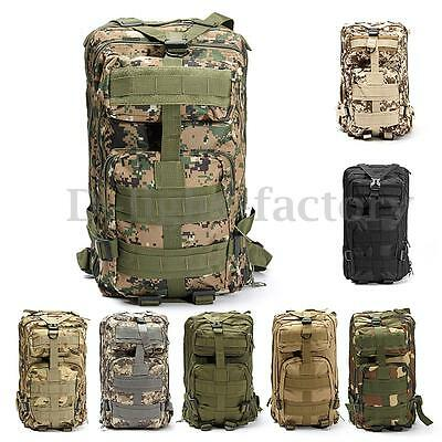 30L Waterproof Military Tactical Rucksack Hiking Camping Backpack Outdoor Bag