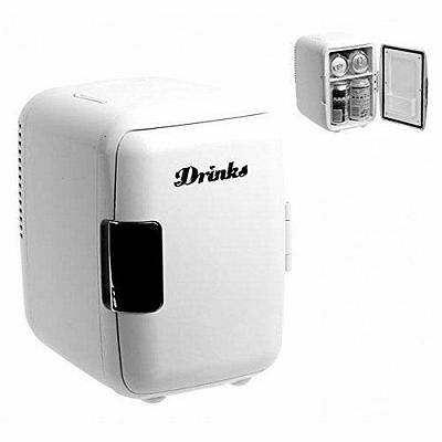 Balvi Mini Fridge Drinks Fridge White 220V-12V RRP £55 DAMAGED BOX SALE £36
