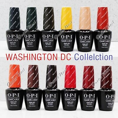 OPI Soak-Off GelColor WASHINGTON DC 2016 Fall Winter Collection @ PICK Any Gel