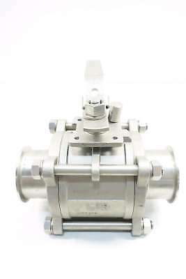 Top Line Top-flo 1000 Wog Sanitary 3 In Stainless Tri-clamp Ball Valve