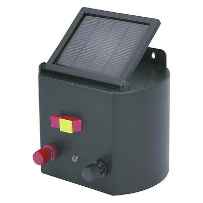 Solar powered electric fence charger