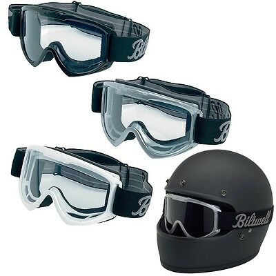 Biltwell Anti Fog Clear Lens Street Motorcycle Moto Goggles